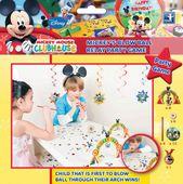 Hra Mickey prekážková dráha