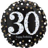 """Jumbo balón """"30"""" Gold Diamonds"""