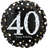 """Jumbo balón """"40"""" Gold Diamonds"""