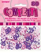 Konfety ´´80´´ birthday ružové