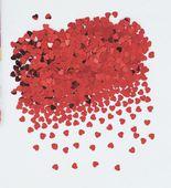 Konfety červené srdiečka