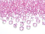 Kryštalové diamanty svetlo-rúžove