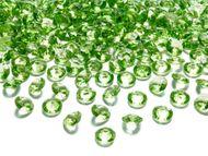 Kryštalové diamanty svetlo-zelené