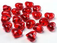 Kryštalové srdcia červené