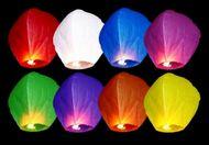 Lampióny šťastia multicolor - 100ks