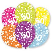 "Latexové balóny ""50"" multi"
