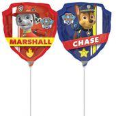 Mini fóliový balón Labková patrola - Chase