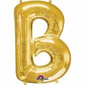 """Fóliový balón """"B"""" zlatý"""