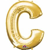 "Fóliový balón ""C"" zlatý"