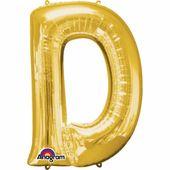 """Fóliový balón """"D"""" zlatý"""