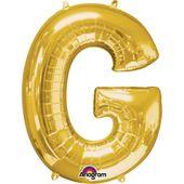 "Fóliový balón ""G"" zlatý"