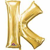 "Fóliový balón ""K"" zlatý"