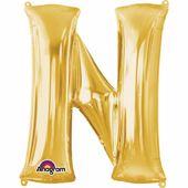 "Fóliový balón ""N"" zlatý"