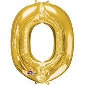 """Fóliový balón """"O"""" zlatý"""