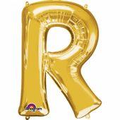 """Fóliový balón """"R"""" zlatý"""