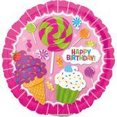 Mini fóliový balón SweetShop Birthday
