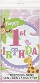 Obrus 1.narodeniny pink Safari