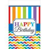 Obrus Birthday Bright rainbow