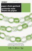 Papierová reťaz bodky limetková zelená