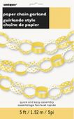 Papierová reťaz Dots žltá