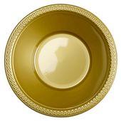 Plastová miska zlatá