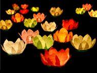 Plávajúce lampióny kvety