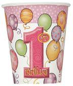 Pohárik 1.narodeniny dievčatko