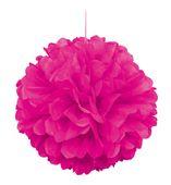 Pompónová guľa neónová ružová