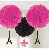 Pompónové gule s dekoráciou A Day in Paris