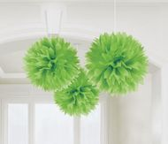Pompónové gule zelené