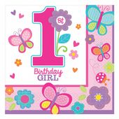 Servítky 1.narodeniny B-day Girl