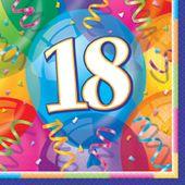 Servítky 18 Brilliant Birthday