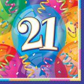 Servítky 21 Brilliant Birthday