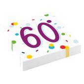 """Servítky Radiant Birthday """"60"""""""
