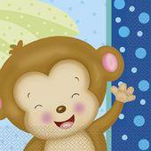 Servítky Baby Boy Monkey
