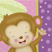 Servítky baby Girl Monkey