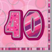 Servítky Birthday ´´40´´ Pink