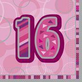 Servítky Birthday ´´16´´ Pink