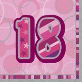 Servítky Birthday ´´18´´ Pink