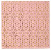 Servítky Cement Tile ružovo-zlaté