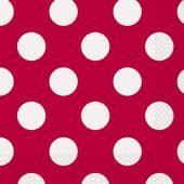 Servítky červené bodky