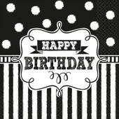 Servítky Chalkboard Birthday
