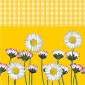 Servítky Daisy žlté