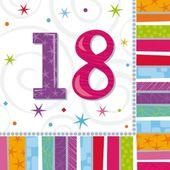 """Servítky Radiant Birthday """"18"""""""