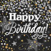Servítky Glittering Birthday