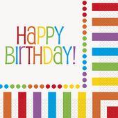 Servítky Happy Birthday Rainbow
