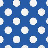Servítky malé modré bodky