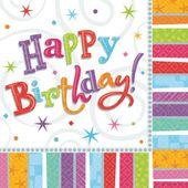 Servítky Radiant Birthday