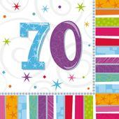 """Servítky Radiant Birthday """"70"""""""
