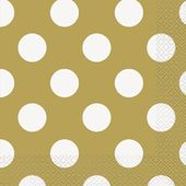 Servítky zlaté bodky